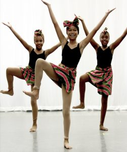 Young Girl African Dancers